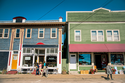 Retail shops in historical buildings in Annapolis Royal Nova Scotia