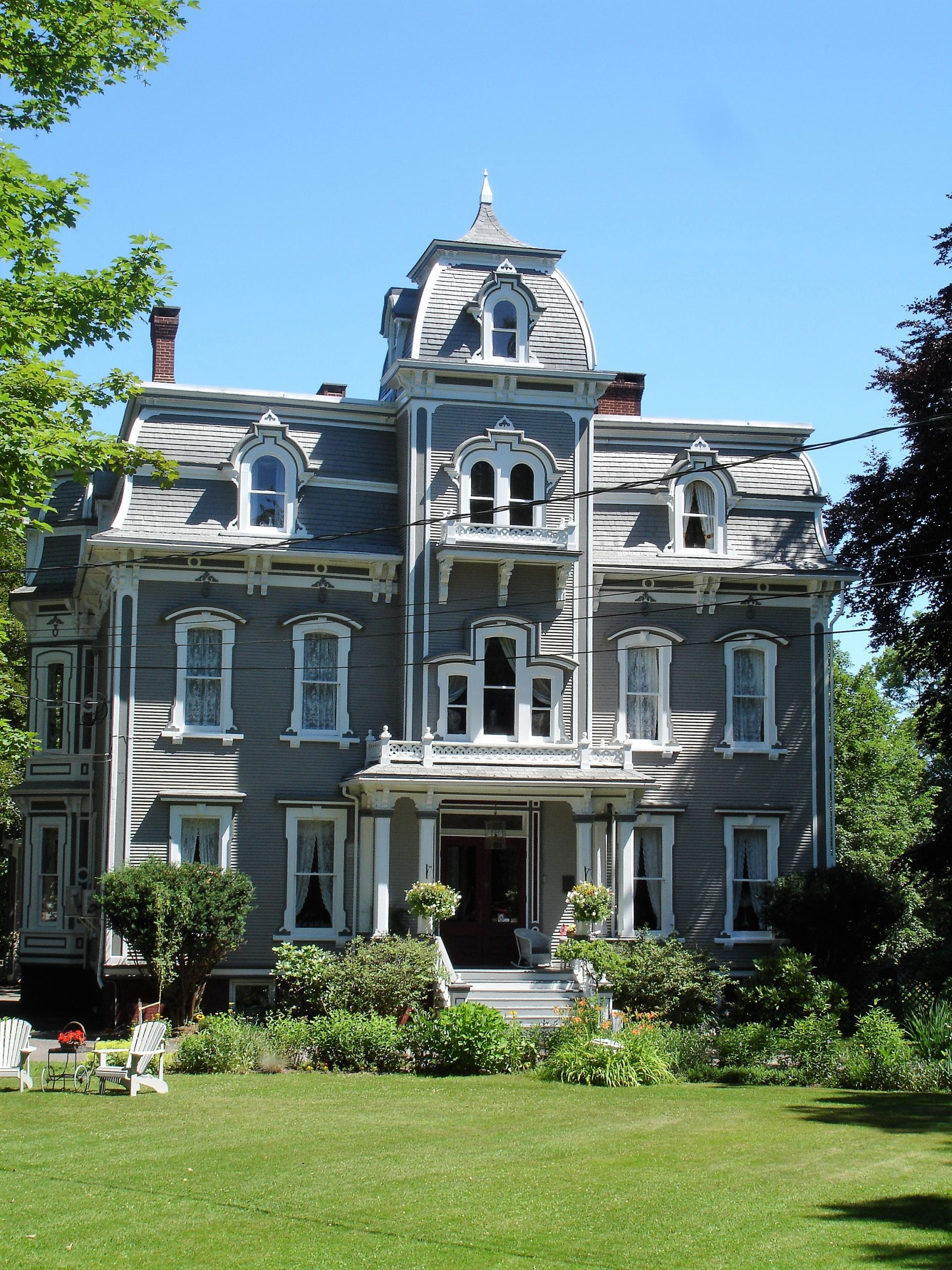 One of the many stately Victorian Homes in Annapolis Royal Nova Scotia. Some have been converted to marvelous B & B's